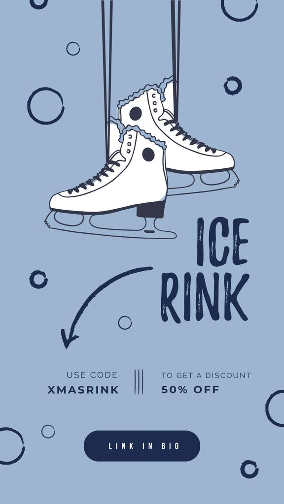 Ice skates hanging on wall — Create a Design