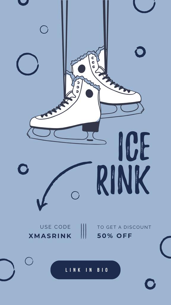Ice skates hanging on wall — Створити дизайн