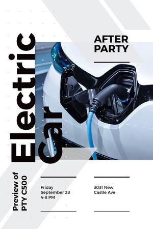 Invitation to electric car exhibition Pinterest Modelo de Design