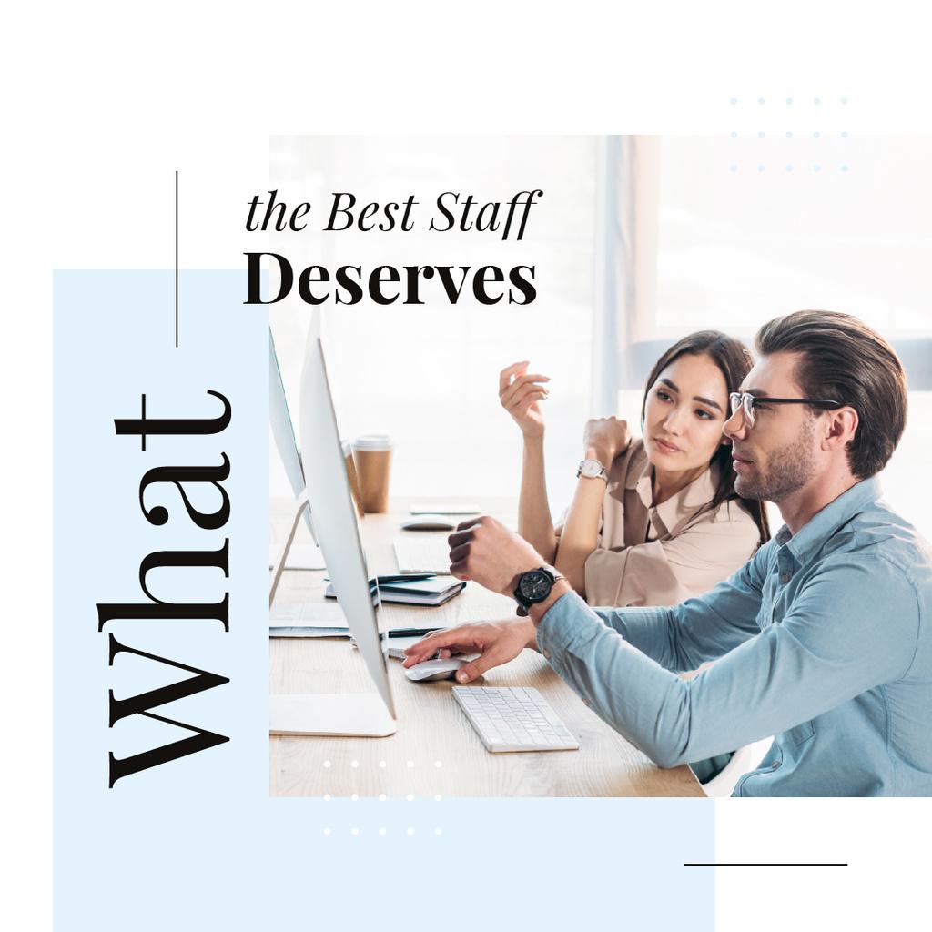What the best staff deserves — Maak een ontwerp