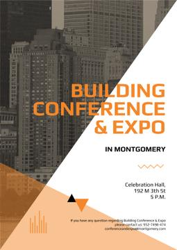 Building Conference Announcement Modern Skyscrapers