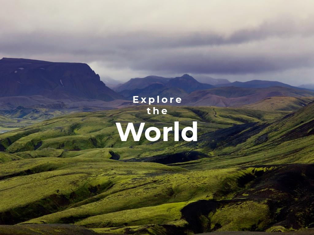 Explore the world banner — Créer un visuel