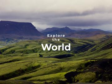 Explore the world banner