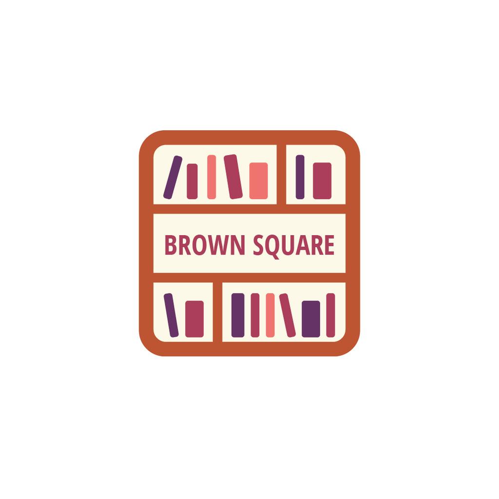 Bookstore Ad Books on Shelves — ein Design erstellen