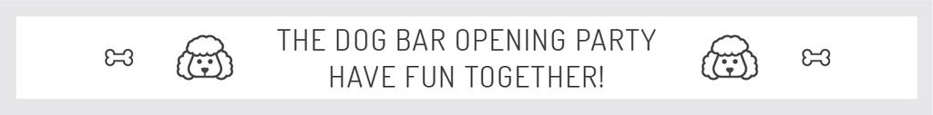 The dog bar opening party — Создать дизайн