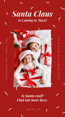 Template di design Kids with Christmas gifts Instagram Story