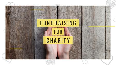 Charity Fundraising Open Human Palms Youtube Thumbnail Design Template