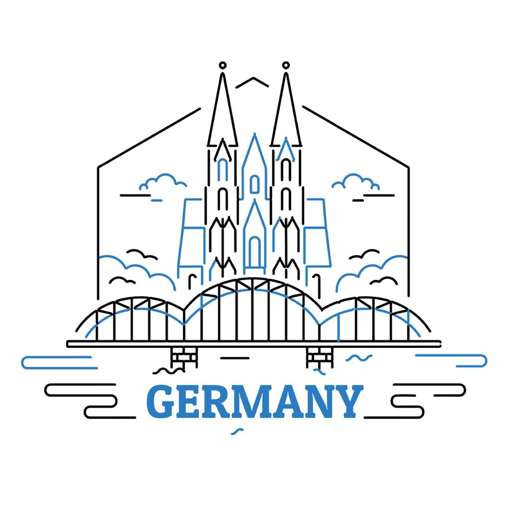Germany famous travelling spots —デザインを作成する