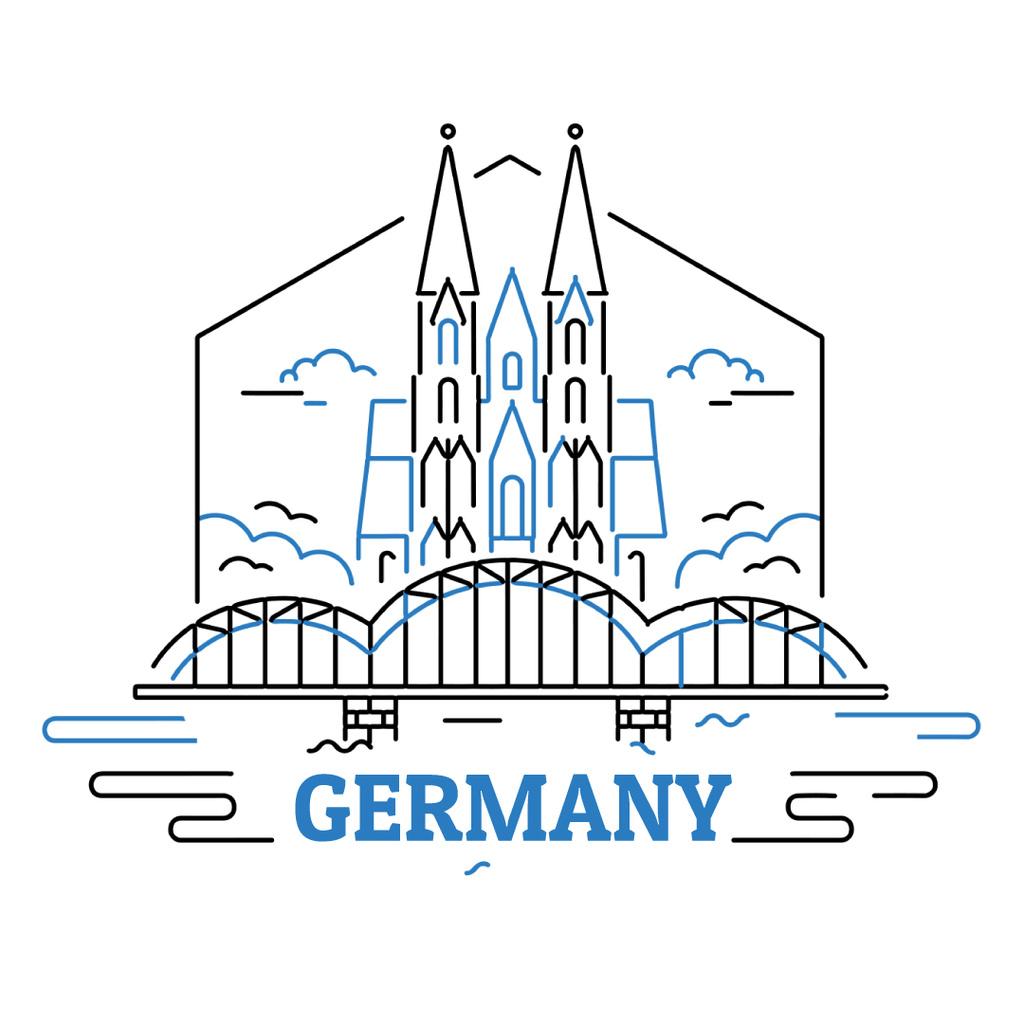 Germany famous travelling spots — Créer un visuel