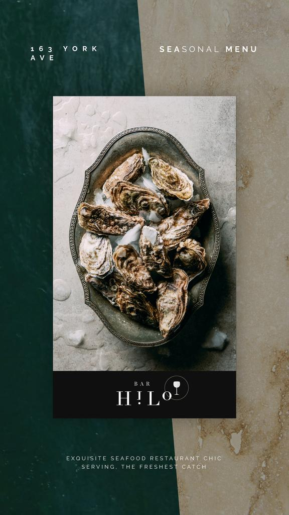 Seafood Bar Promotion Oysters on a Plate | Vertical Video Template — Створити дизайн