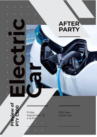 Invitation to electric car exhibition Poster – шаблон для дизайна