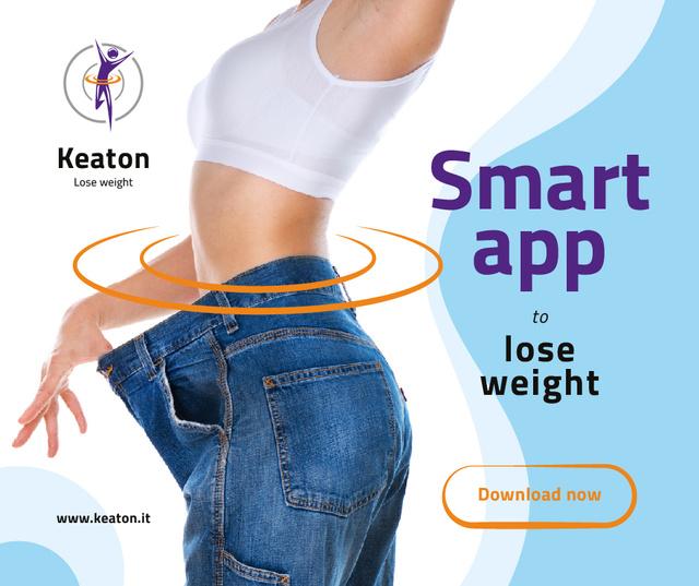 Weight Loss Program Ad Slim Female Body Facebook Tasarım Şablonu