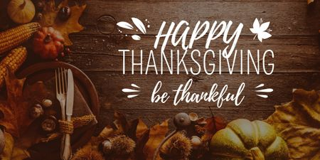 Plantilla de diseño de thanksgiving day greeting card Image