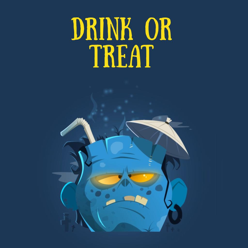 Halloween drink in Frankenstein head — Modelo de projeto