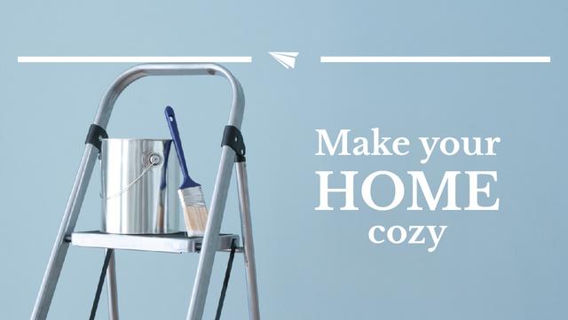 Szablon projektu Tools for Home Renovation in Blue Youtube Thumbnail