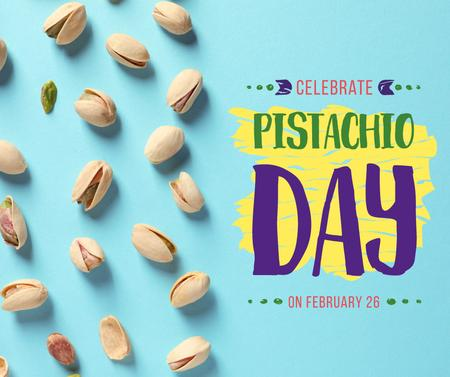 Pistachio nuts day celebration Facebook Modelo de Design