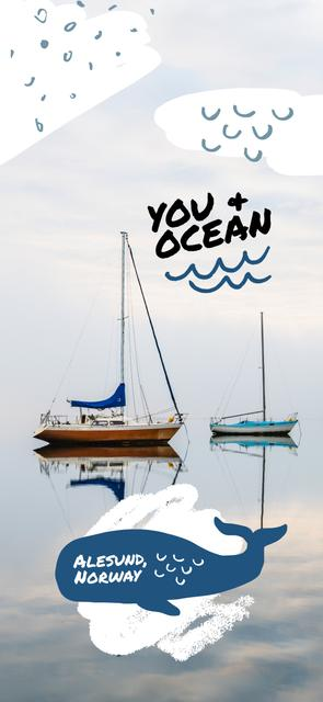 Ontwerpsjabloon van Snapchat Geofilter van Ships in sea at Norway coast