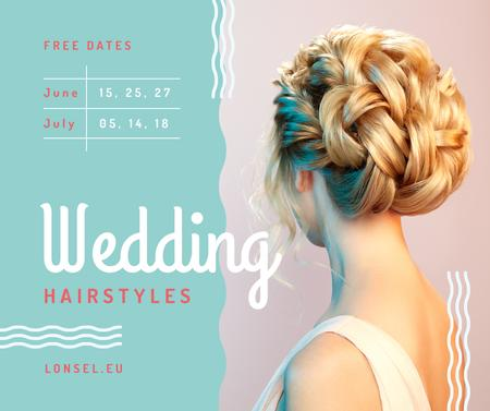 Wedding Hairstyles Offer with Bride with Braided Hair Facebook Tasarım Şablonu