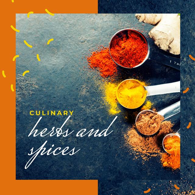 Aromatic spices assortment Instagram Design Template