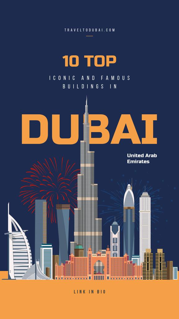 Dubai city view — Modelo de projeto