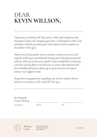 Subscription Services notification Letterhead Modelo de Design