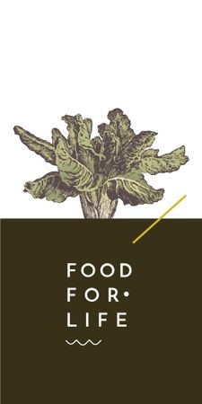 Plantilla de diseño de food for life poster with cabbage Graphic