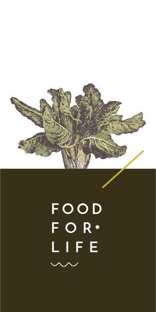 Plantilla de diseño de Food Ad with cabbage illustration Graphic
