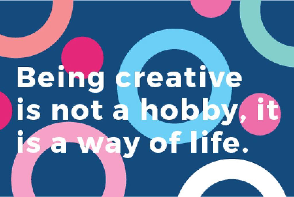 Citation about how to be a creative — Crea un design