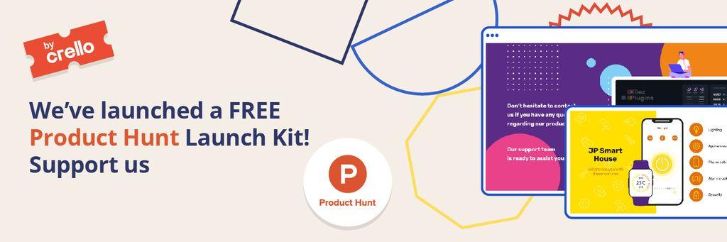 Product Hunt Launch Kit Offer Digital Devices Screen Twitter – шаблон для дизайну