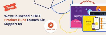 Szablon projektu Product Hunt Launch Kit Offer Digital Devices Screen Twitter