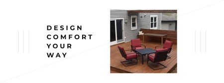 Home Design with cozy Patio Facebook cover Modelo de Design