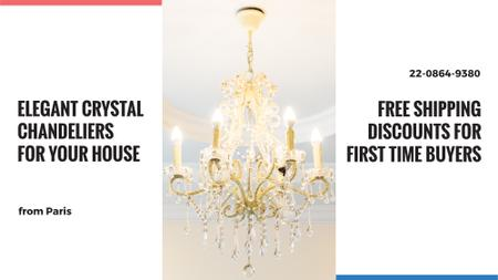Plantilla de diseño de Elegant crystal Chandelier offer FB event cover
