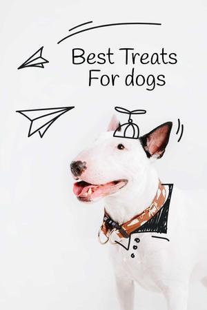 Plantilla de diseño de Happy Dog for Treats promotion Pinterest