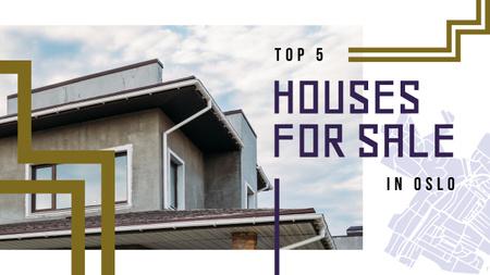 Real Estate Offer Residential Modern House Youtube Thumbnail Design Template