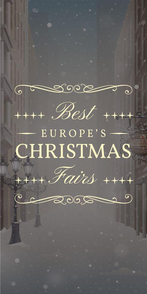best europe's Christmas fairs banner — Créer un visuel