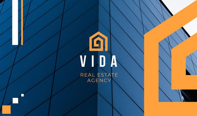 Modèle de visuel Real Estate Ad Modern Skyscraper - Business card