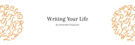 Plantilla de diseño de Writing your life citation Twitter