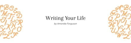 Writing your life citation Twitter Design Template