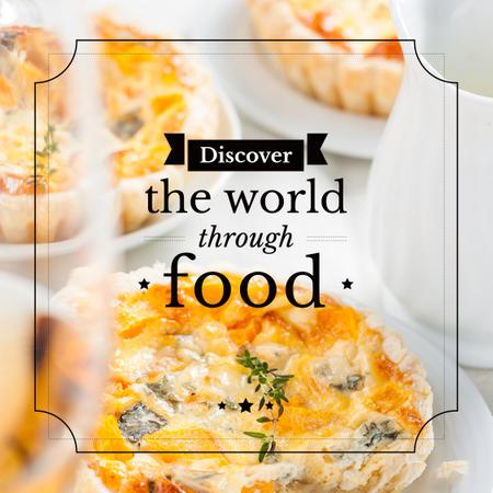 Food Inspiration Quote with tasty pie Instagram AD Tasarım Şablonu