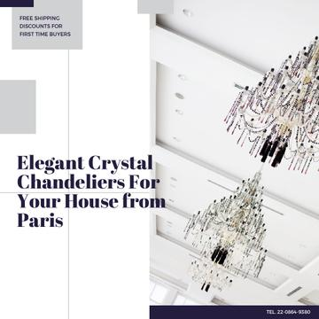 Elegant Crystal Chandeliers Sale