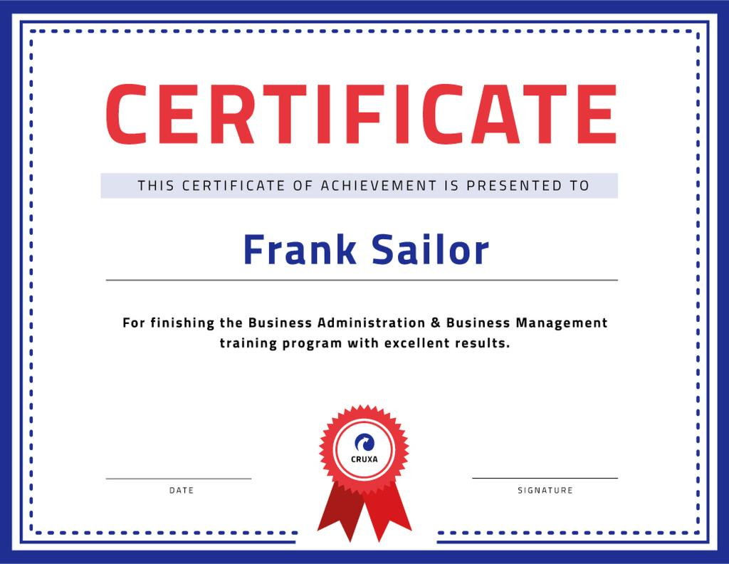 Business Course program Achievement with stamp — Create a Design