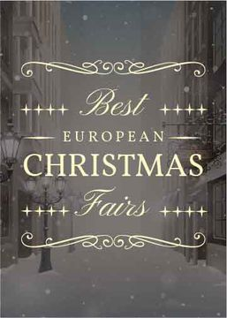 Christmas Fairs Guide Town in Snow | Flyer Template