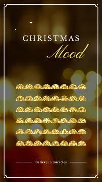 Christmas card with shiny glitter
