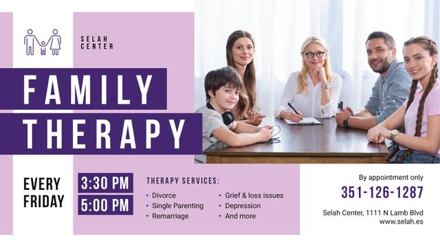 Family Therapy Center invitation FB event cover – шаблон для дизайна