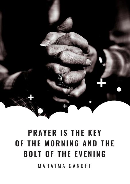 Plantilla de diseño de Religion citation about prayer Poster