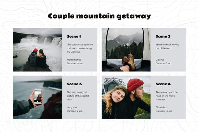Trip to Nordic countries Storyboard Design Template