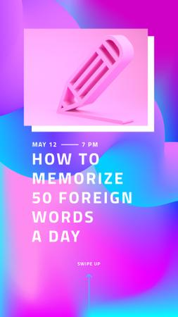 Plantilla de diseño de How to memorize Foreign Words Instagram Story