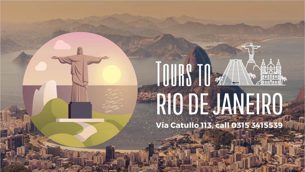 Tour Invitation with Rio Dew Janeiro Travelling Spots — ein Design erstellen