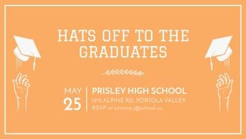 Graduates Day invitation in orange