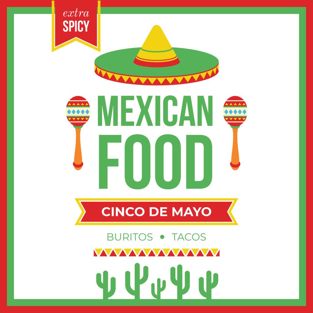 Plantilla de diseño de Mexican food on Cinco de Mayo holiday Instagram AD